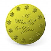 Moneta d'oro di Natale isolato — Foto Stock
