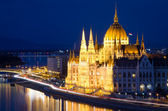 Budapest, Danube and Hungarian Parliament — Foto de Stock