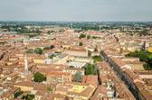 Cremona, Italy, panorama from the Torrazzo — Stock Photo