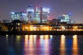 London, Canary Wharf view from Greenwich — Stock Photo