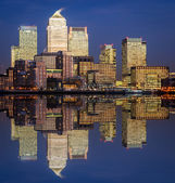 London, Canary Wharf (blue hour) — Stock Photo