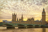 London, Westminster at sunset — Stock Photo