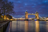 London, Tower Bridge (blue hour) — Stock Photo