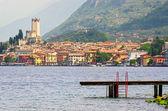 Lake Garda, Town of Malcesine (Veneto, Italy) — Stock Photo