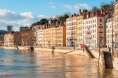 Lyon, France, golden hour — Stock Photo