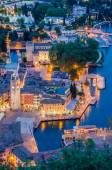 Lake Garda, Town of Riva del Garda, Italy (blue hour) — Stock Photo