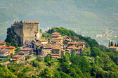 Tenno, Trentino Alto Adige (Italy), village and castle — Stock Photo