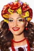 Beautiful smiling Ukrainian girl — Stock Photo