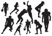 Vektor-american-Football-Spieler-silhouette — Stockvektor