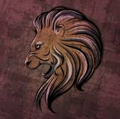 Lion head grunge illustration — Cтоковый вектор
