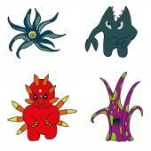 Set of cartoon monsters — Stock Vector