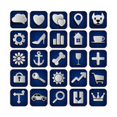 25 web icons  set — Stock Vector