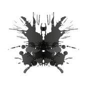 Rorschach test card — Stock Vector