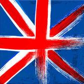 Grunge background in colors of United Kingdom flag — Stock vektor