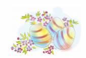 Hand drawn easter eggs — Vecteur