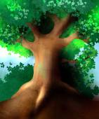 Magic tree — Stock Vector