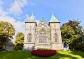East facade of Stavanger Cathedral  (XIII c.). Norway — Stock Photo
