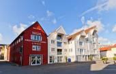 Houses on Blue Promenade of Stavanger, Norway  — Stock Photo