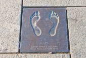 Footprint of Albert Gore in Stavanger, Norway  — Stock Photo