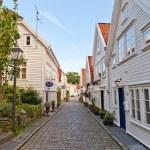 Street of Gamle (Old) Stavanger, Norway — Stock Photo