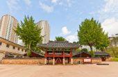 Konfucianska helgedom-skolan busanjin hyanggyo i busan, sydkorea — Stockfoto