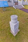 Two-step cylindrical sundial in Science Garden in Busan, Korea — Stock Photo