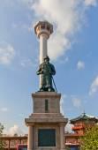 Monument to admiral Yi Sun-shin in Busan, Korea — Stock Photo