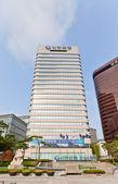 Skyscraper (1988) of Shinhan Bank Headquarters in Seoul  — Stock Photo