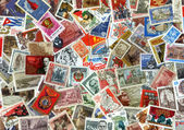 Background of Soviet stamps  — Stock Photo