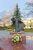 Monument to Pope John Paul II in Lodz, Poland — Stock Photo