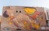 Giant murals in Lodz, Poland — Stock fotografie
