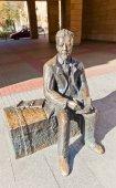 Monument to Polish novelist Wladyslaw Reymont in Lodz, Poland — Stock fotografie