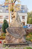 Jesus Christ sculpture in Lodz, Poland — Stock Photo