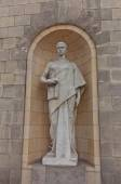 Escultura del Palacio de la cultura y la ciencia en Varsovia, Polonia — Foto de Stock