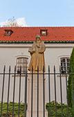 St. Benedict statue in St. Kazimierz Church. Warsaw, Poland — Stock Photo