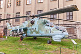 Soviet attack helicopter Mil Mi-24D — Stock Photo