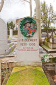 Tomb of Jean Baptiste Clement in Paris — Stock Photo
