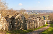 Ruins of ramparts in Provins France. UNESCO site  — Stock Photo