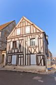 Fachwerk style medieval house in Provins France — Stock Photo