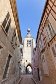 Bell Tower (XVI c.) of Notre Dame du Val in Provins, France — Stock Photo