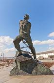 Monument to Musa Dzhalil (1966) in Kazan city, Russia — Stock Photo