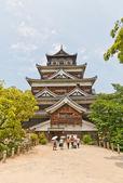 Główne zachować Zamek Hiroshima w Japonii. National historic witryny — Zdjęcie stockowe