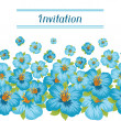 Design of invitation card with pretty stylized flowers. — Stock Vector #51835483
