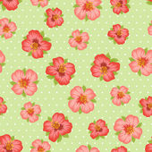 Seamless floral pattern with pretty stylized flowers. — Stock Vector
