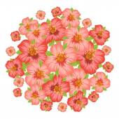 Background or card with pretty stylized flowers. — Stock Vector