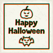 Happy halloween greeting card with effect overlay. — Stock Vector