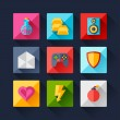 Set of game icons in flat design style. — Stock Vector #52715999