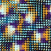 Disco seamless pattern of halftone dots in retro style. — Vector de stock