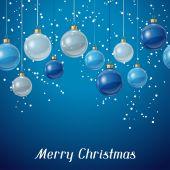Noel topları ile tatil arka kart şablonu. — Stok Vektör