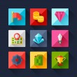 Set of game icons in flat design style. — Stock Vector #53371577